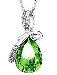 Per donna Collane con ciondolo Collane a catena Cristallo Strass imitazione diamante goccia Strass Vetro LegaClassico Originale Con logo