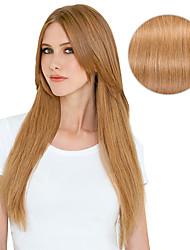 billiga -Klämma in Människohår förlängningar Rak Hårförlängningar av äkta hår Äkta hår Dam - Jordgubbsblont