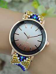 cheap -Women's Bracelet Watch Fashion Watch Wrist watch Quartz Fabric Band Bohemian Black Blue Red Green Pink Purple Rose