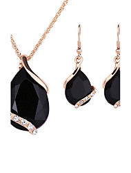 Women's Bridal Jewelry Sets AAA Cubic Zirconia Fashion Euramerican Alloy Drop Jewelry 1 Necklace 1 Pair of Earrings For Wedding Party