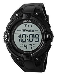cheap -SKMEI Men's Sport Watch / Digital Watch Japanese Alarm / Calendar / date / day / Chronograph Silicone Band Black / Water Resistant / Water Proof / LED / Stopwatch / Noctilucent / Two Years