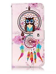 economico -Per il iphone 7 plus 7 modello di catcher del sogno modello di verniciatura goffrato pu telefono in pelle materiale 6s più 6s 6 5s se 5