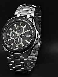 CHENXI® Pánské Náramkové hodinky Křemenný Japonské Quartz Nerez Kapela Stříbro Bílá Černá Hnědá / bílá