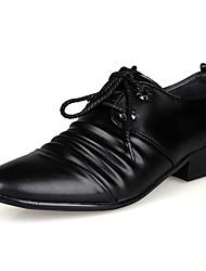 Homme Chaussures Polyuréthane Printemps Eté Confort Chaussures formelles Oxfords Lacet Pour Décontracté Soirée & Evénement Noir Marron