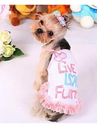 d1be4e430 Perro Vestidos Ropa para Perro Princesa Amarillo Rosa Algodón Disfraz Para  Primavera   Otoño Verano Hombre Mujer Casual   Diario Moda