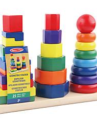 Недорогие -Конструкторы Учебный инструмент Монтессори Обучающая игрушка Игрушки Квадратный Круглый Цилиндрическая Башня Дерево Детские 1 Куски
