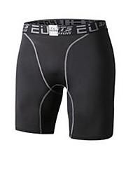 Per uomo Pantaloncini da corsa Traspirante Comodo per Esercizi di fitness Corsa Tessuto sintetico Taglia piccola Nero Grigio M L XL XXL