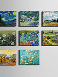 cheap -The Logicians Oil Painting Engraved Canvas Print Wall Art Vincent Van Gogh  2  Multi Style Selection