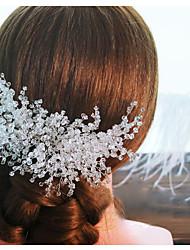 abordables -peine del pelo de cristal peinado del banquete de boda elegante estilo femenino