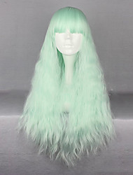 cheap -Synthetic Hair Wigs Kinky Curly Capless Carnival Wig Halloween Wig Cosplay Wig Long Green
