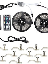 cheap -Led Strip Lights Kit 5050 Waterproof 32.8 Ft (10M) 600leds RGB 60leds/m with 44key Ir Controller and 12V 6A  Power Supply with 10PCS Mounting Bracket
