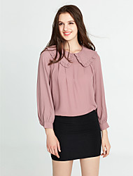 cheap -Women's Lantern Sleeve Blouse - Solid Colored Ruffle Shirt Collar / Spring