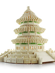cheap -3D Puzzles Jigsaw Puzzle Wood Model Model Building Kit Famous buildings Chinese Architecture Architecture Temple of Heaven Simulation Wood