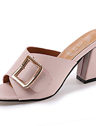Dámské Sandály Pohodlné PU Léto Pohodlné Kačenka Černá Béžová Růžová 7.5 - 9.5 cm