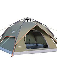 cheap -DesertFox® 3-4 persons Tent Double Camping Tent One Room Automatic Tent Waterproof Rain-Proof for Camping 2000-3000 mm Oxford CM