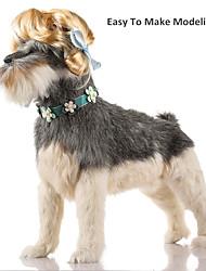 abordables -Gato Perro Navidad Pelucas Ropa para Perro Un Color Naranja Amarillo Marrón Azul Negro Rayón / Poliéster Disfraz Para mascotas Hombre