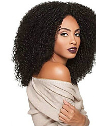 cheap -Synthetic Hair Wigs Afro Curly African American Wig Heat Resistant Natural Wigs Long Black