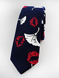 cheap -Men's Party Work Basic Cotton Necktie - Jacquard
