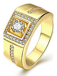Anillo Anillo de compromiso Cristal Moda Personalizado Euramerican Joyería de Lujo Cristal Cobre Plateado Chapado en Oro Rosa Oro Plateado