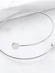 abordables -Femme Manchettes Bracelets - Mode Forme Géométrique Argent Bracelet Pour Soirée Occasion spéciale