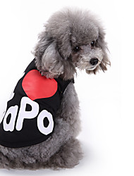 cheap -Cat Dog Shirt / T-Shirt Vest Dog Clothes Summer Letter & Number Cute Fashion Casual/Daily I Love Papa