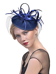 cheap -Women's Fabric Hair Clip,Hat Solid Color Mesh All Seasons