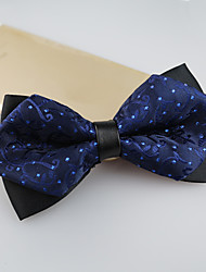 cheap -Men's Polyester Bow Tie,Vintage Cute Party Work Casual Jacquard All Seasons Navy Blue