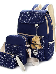 Women Bags All Seasons Canvas Backpack for Casual Sports Outdoor Black Navy Blue