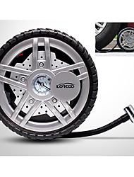 Lorcoo 12v 100w preselezionato gonfiatore pneumatico digitale con l'adattatore della cassa e luce principale