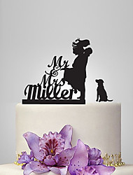 Cake Topper Garden Theme Classic Theme Rustic Theme Classic Couple Acrylic Wedding Anniversary Bridal Shower With OPP