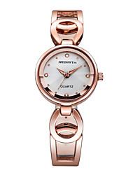 abordables -REBIRTH Mujer Reloj de Moda Japonés Cuarzo / Aleación Banda Casual Plata Dorado Oro Rosa Blanco Negro Plata Oro Rosa Oro Rosa/Blanco