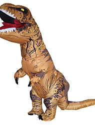 abordables -Dinosaure Costume de Cosplay Imperméable Costume Gonflable Pour Halloween Cosplay de Film Marron Collant / Combinaison Ventilateur Noël