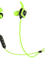 abordables -Bluetooth auriculares inalámbricos auriculares deportivos auriculares estéreo bajos con gancho de oreja mic micrófono de voz sin manos de