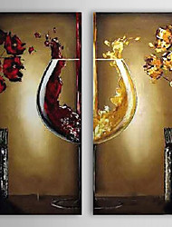 cheap -Oil Painting Hand Painted - Still Life European Style Modern Canvas