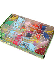 cheap -Maze & Sequential Puzzles 3D Maze Puzzle Box Toys Square ABS Metal 12 Pieces Unisex Gift