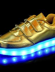 Da ragazzo-Sneakers-Tempo libero Casual Sportivo-Light Up Shoes Shoe Luminous-Basso-Finta pelle-Oro Bianco Nero Argento