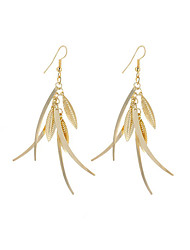 cheap -New Fashion Simple Vintage Plated Gold/Silver Multiple Leaves Drop Earrings For Women Dangle Long Earrings Jewelry Accessories