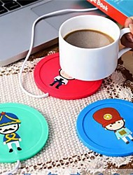 cheap -1Pcs  USB Hub Cup Warmer Office Coffee Tea Mug Heater Pad Mat  Winter Drink Random Color