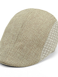 Linen Bucket Hat  Folding Soft Sun Hat Casual Foldable Brimmed Beach Hats For Men
