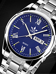 cheap -Men's Fashion Watch Quartz Casual Watch Alloy Band Charm Silver