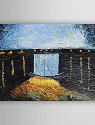 economico -Dipinta a mano Paesaggi Orizzontale,Stile europeo Un Pannello Tela Hang-Dipinto ad olio For Decorazioni per la casa