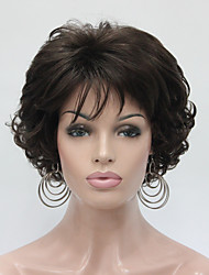 cheap -Synthetic Wig Curly Wavy Brown Women's Capless Natural Wigs Short Synthetic Hair