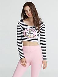 abordables -Femme Tee-shirt - Rayé, Imprimé Pantalon