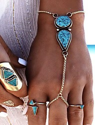 cheap -Women's Ring Bracelet Turquoise Fashion Alloy Geometric Jewelry Party Birthday Gift Valentine Costume Jewelry