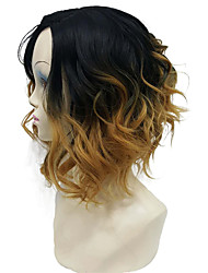 cheap -Synthetic Wig Wavy Natural Wave Bob Haircut Density Capless Women's Blonde Carnival Wig Halloween Wig Natural Wigs Short Synthetic Hair