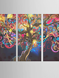 cheap -Giclee Print Abstract Modern Classic,Three Panels Canvas Vertical Print Wall Decor For Home Decoration