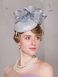 cheap -Flax Lace Feather Fascinators Hats Headpiece Classical Feminine Style
