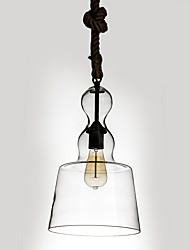 Loft Amercian Industrial Metal with Hemp  Pendant Lamp for the Loyer/ Canteen Room / Coffee Room Glass Creative Decorate Drop Light
