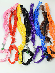 Fashion lace lacework Pet Traction Rope dog collar cat dog harness Pet Christmas accessories Pet Supplies Wholesale sales Width 1.0