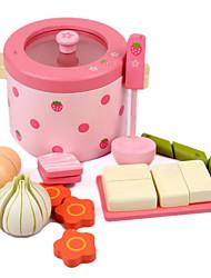 economico -Alimenti a giocattolo Giochi di emulazione Giocattoli Legno Per bambini Regalo 1pcs